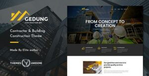 Gedung – Contractor & Building Construction Elementor Theme