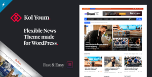 Newspaper Kolyoum – WordPress Elementor Theme