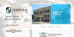 Sakola – School WordPress Elementor Theme