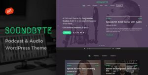 Soundbyte – Podcast/Audio Elementor WordPress Theme