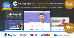 Careerfy – Job Board WordPress Elementor Theme