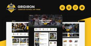 Gridiron | American Football & NFL Superbowl Team WordPress Theme