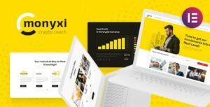 Monyxi | ICO Cryptocurrency Trading Business Coach WordPress Theme