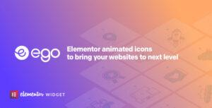 Ego animated icons – widget for elementor