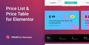 Pricer – Price List for Elementor