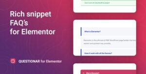 Questionar – FAQ Accordions for Elementor