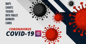 Covid-19 Coronavirus Live Map & Elements for Elementor