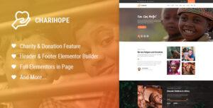 Charihope – Charity and Donation WordPress Theme