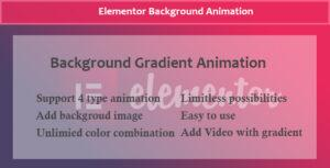 Elementor – Background Gradient Animation