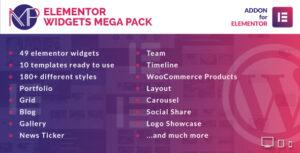 Read more about the article Elementor Widgets Mega Pack – Addons for Elementor Page Builder WordPress Plugin