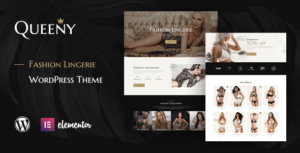Queeny – Fashion Lingerie WordPress Theme