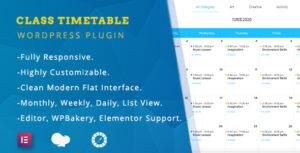 Class Timetable – Responsive Schedule For WordPress