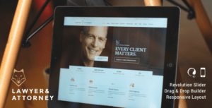 Lawyer & Attorney – Law Firm WordPress