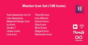 Mentor Icon Set – Icon Pack Addon For Elementor Page Builder