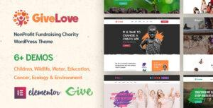 Givelove – Charity & Crowdfunding WordPress Elementor Theme