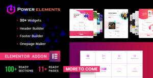 Power Elements – Addon for Elementor Page Builder WordPress Plugin
