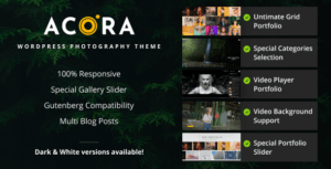 Read more about the article Acora – Photography WordPress Theme