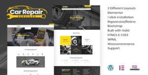 Car Repair Services & Auto Mechanic WordPress Theme + RTL