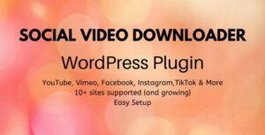 Social Video Downloader – WordPress Plugin