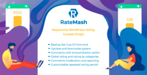 RateMash – Responsive WordPress Voting Contest Plugin